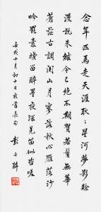 Calligraphy in Running Script | 67.5 x 32cm